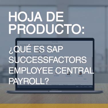 Qué es SAP SuccessFactors Employee Central Payroll_miniatura
